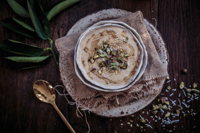 Easy Millet Porridge with Maple and Pistachio