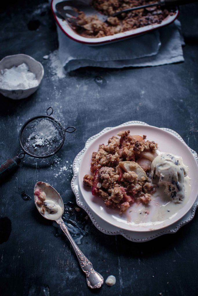 Apple and Rhubarb Walnut Crumble | Anisa Sabet | The Macadames-20