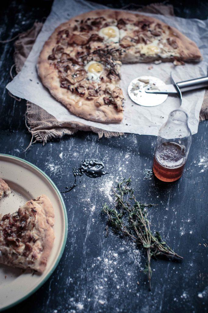 Wild Mushroom, Gruyere and Truffle Honey Pizza   Anisa Sabet   The Macadames-17