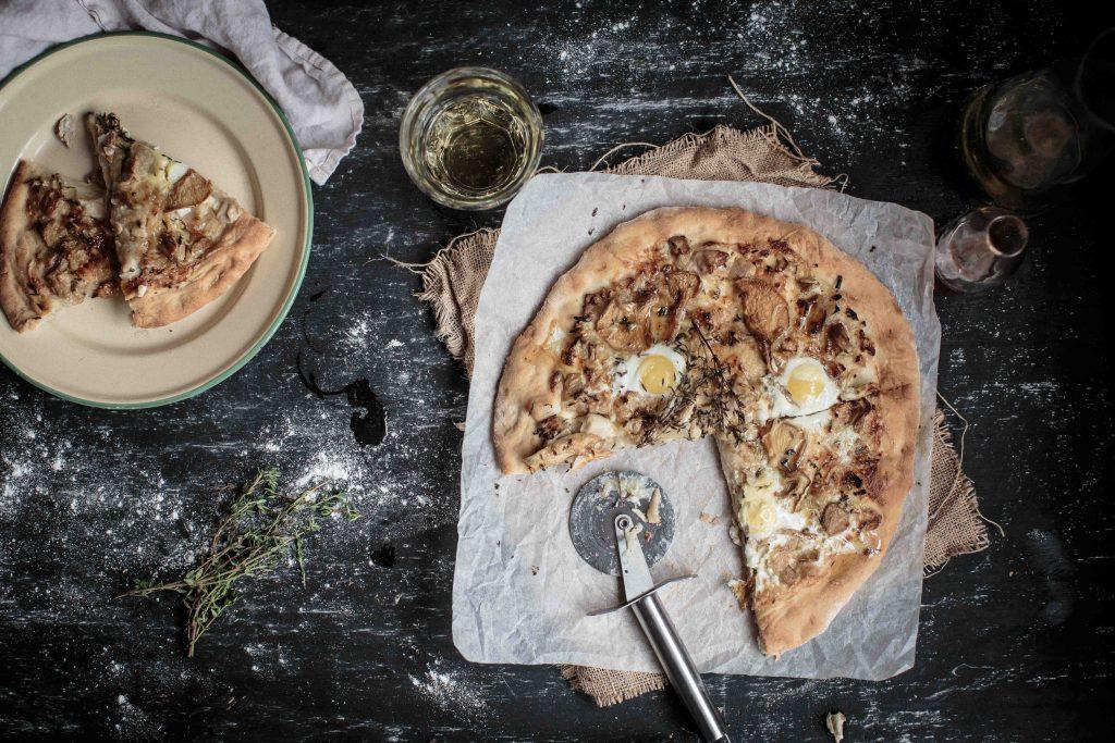 Wild Mushroom, Gruyere and Truffle Honey Pizza   Anisa Sabet   The Macadames-9-2