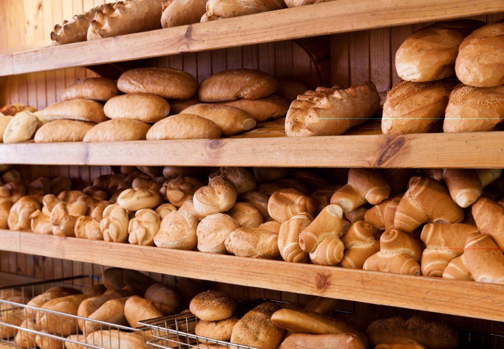 Bertoldo's amazing range of breads.
