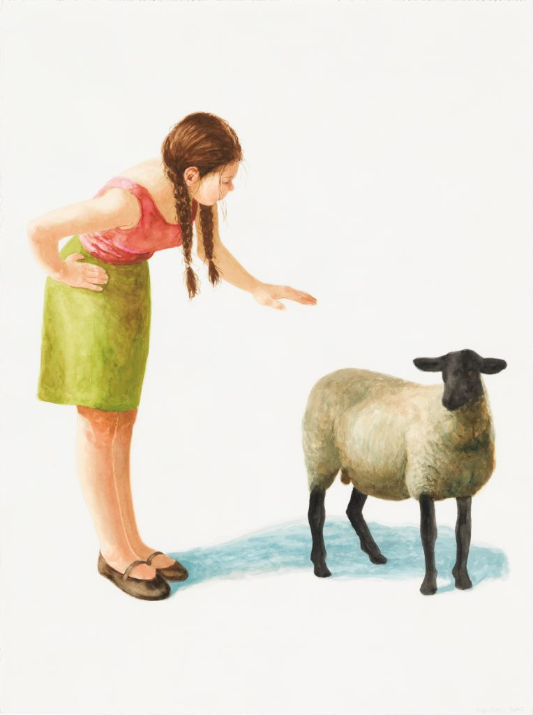 Ministrations of the shepherdess, 2014 by Graeme Drendel. Collection of the artist, Melbourne.