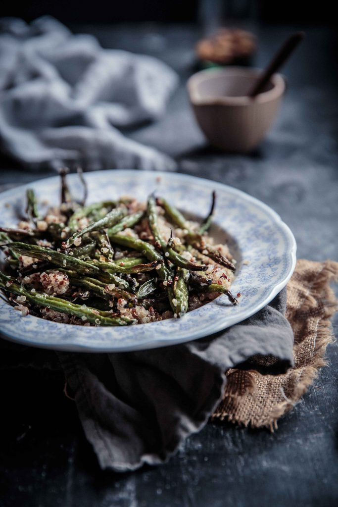 roasted-green-bean-quinoa-salad-with-butter-fried-leek-feta-and-almonds-anisa-sabet-the-macadames-1