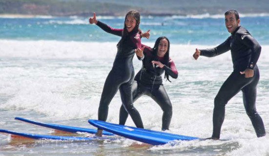 Solo or group fun with Australian Surf Tours.