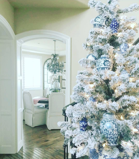 blue and silver christmas image instagramcomtreasurenest