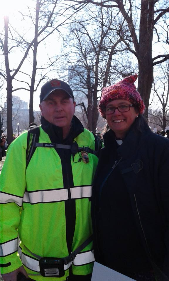Police officer at the Boston March