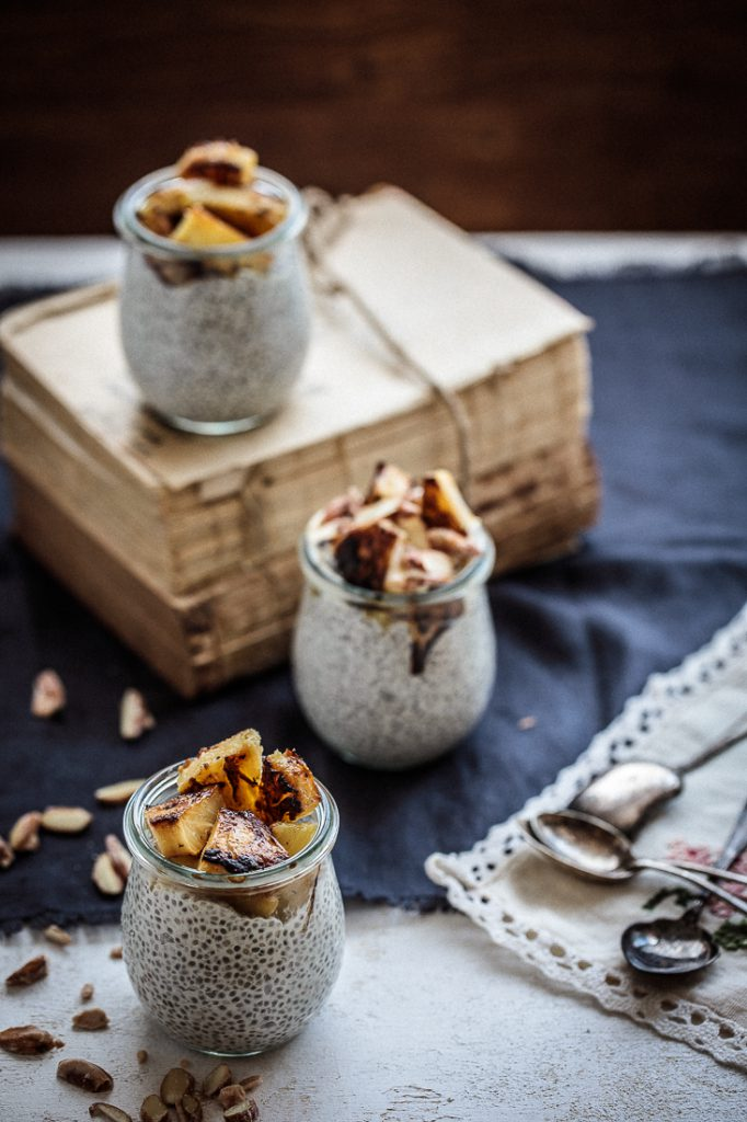 Coconut Chia Pudding With Caramelised Pineapple | Anisa Sabet | The Macadames-7-7