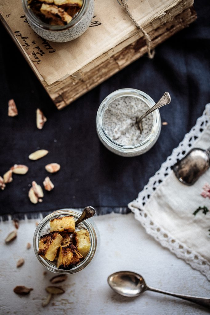 Coconut Chia Pudding With Caramelised Pineapple | Anisa Sabet | The Macadames-9-9