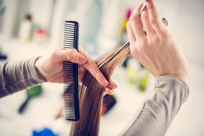What is hair dusting?