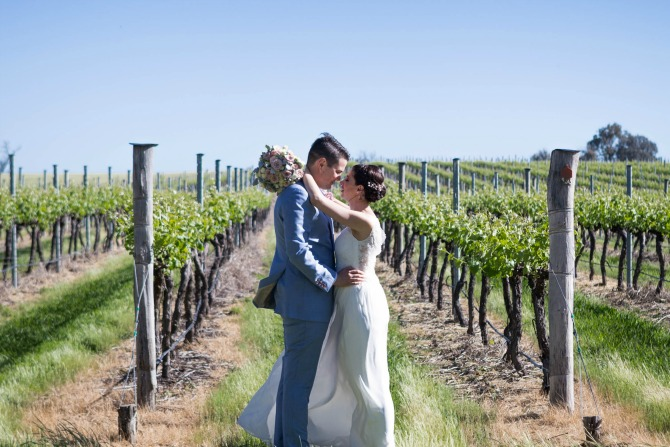 Real wedding: Kate and Mike