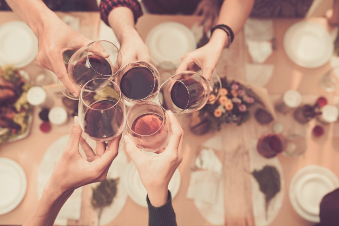 wine dinner party group_feature