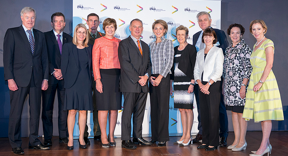 The Hon John Lloyd PSM, Andrew Colvin APM OAM, Dr Heather Smith PSM, Lieutenant General Angus John Campbell DSC AM, Glenys Beauchamp PSM, Dr Gordon de Brouwer PSM, Senator the Hon Michaelia Cash, Rosemary Huxtable PSM, Chris Moraitis PSM, Renée Leon PSM, Kathryn Campbell CSC, Carmel McGregor PSM
