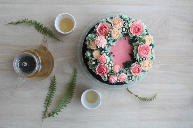 Your wedding cake in bloom