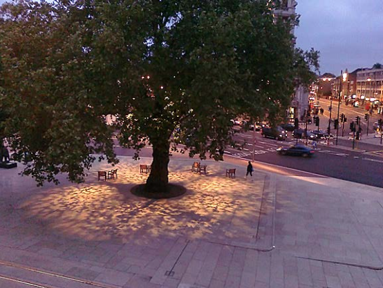 An example of city lighting