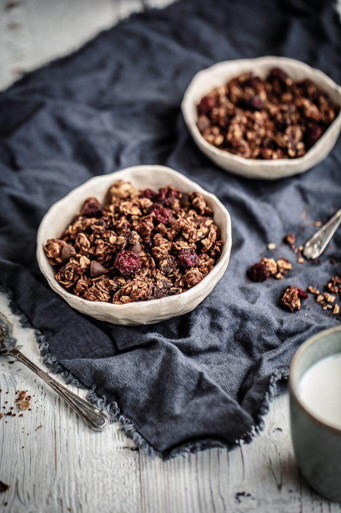 Nutella, Cranberry & Dark Choc Chip Granola   Anisa Sabet   The Macadames-1