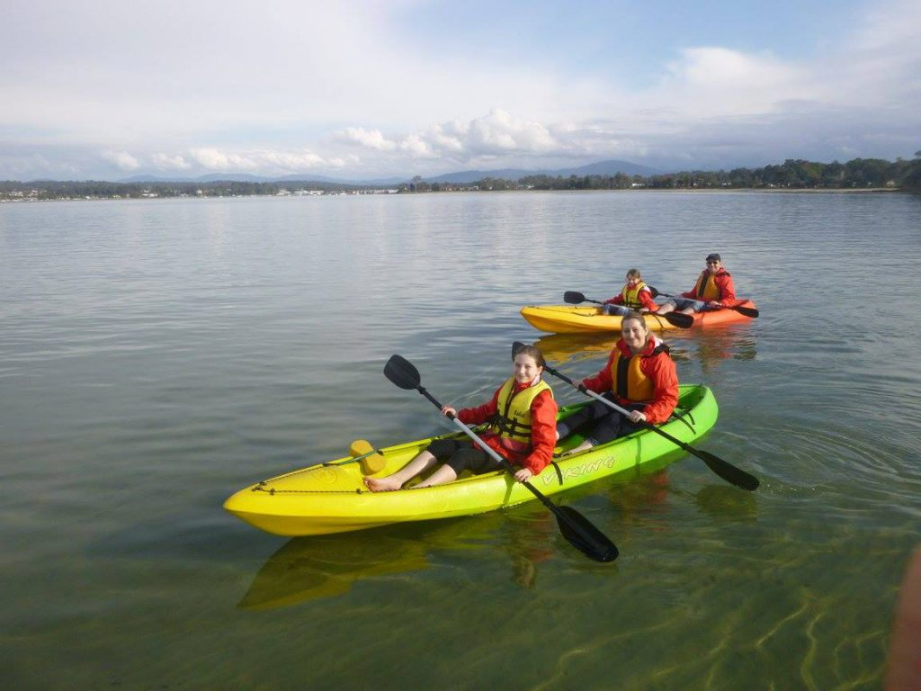 The four of us exploring with Region X Kayak Experiences. Photo: Region X Kayak Experiences.