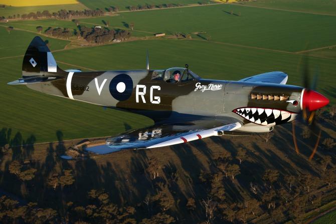 A MkVIII Spitfire belonging to TAM.