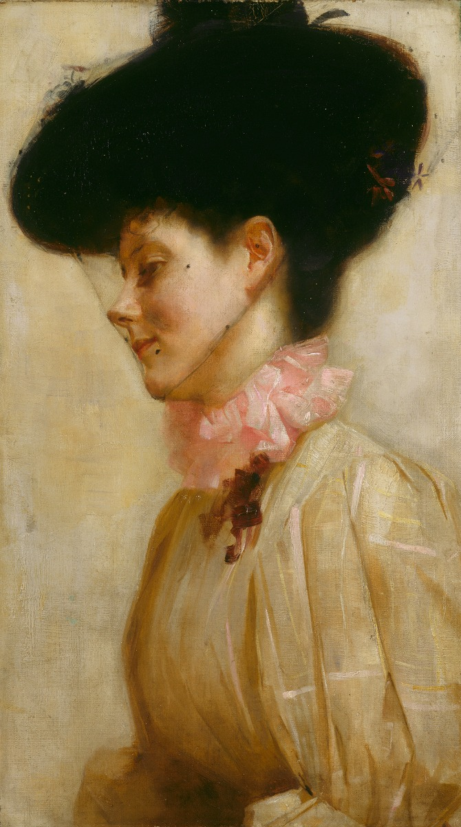 Portrait of Florence c 1898 oil on canvas on paperboard 66.6 x 38.7 cm Art Gallery of New South Wales, Sydney bequest of Florence Turner Blake 1959. Courtesy of the NGA.