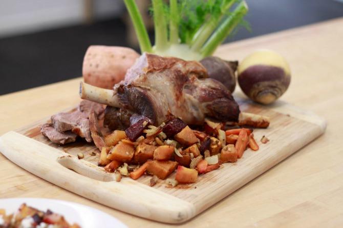 Recipe: Winter vegetables with roast lamb