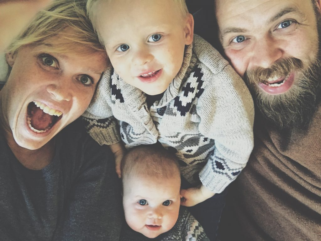 Amanda with her family