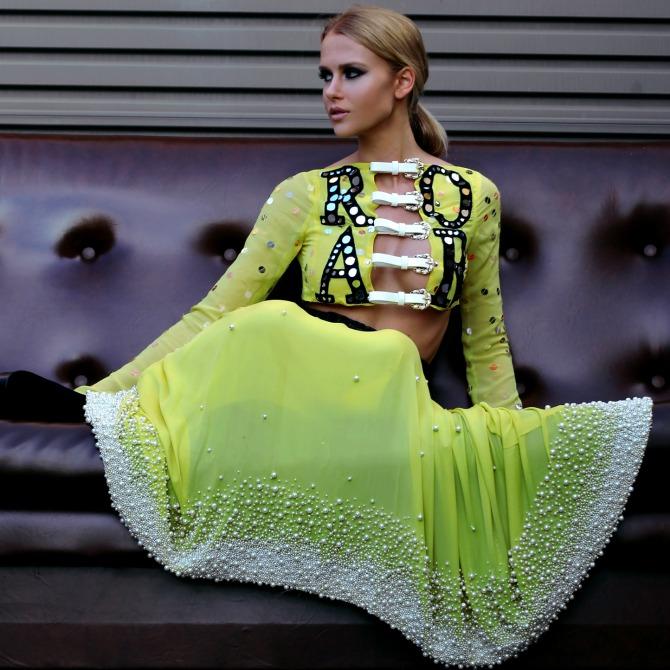 Birdskin. Fractal Fashion Photography.