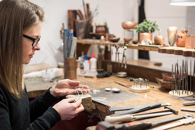 Alison Jackson in her studio. Shot by Tim Bean Photography