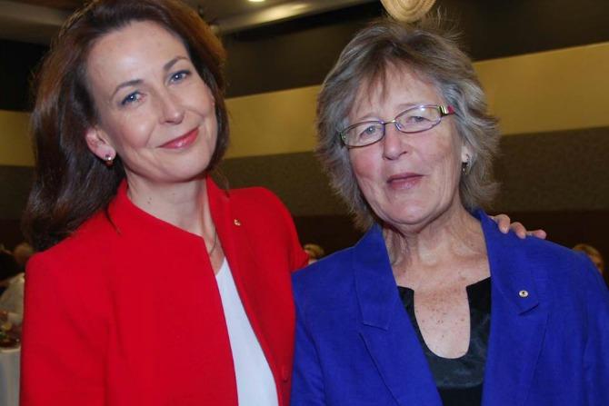 Virginia H with Libby Lloyd