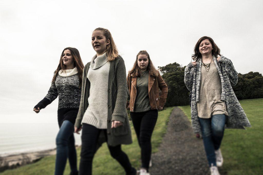 Project O girls in North West Tasmania Photo: Heath Holden.