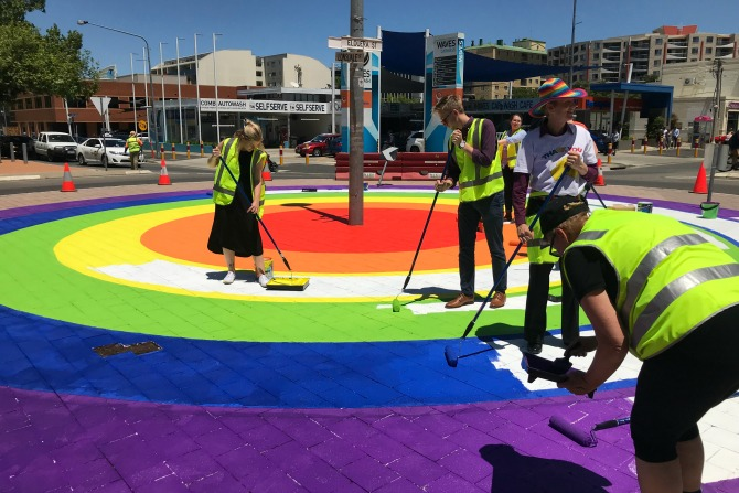 A Rainbow Roundabout in Braddon