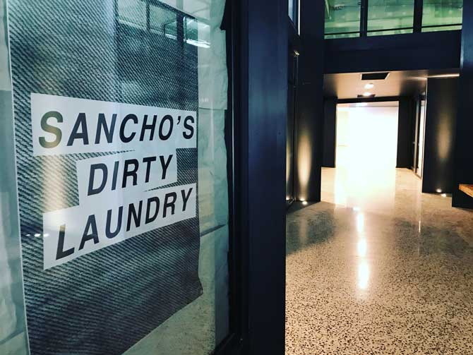 Sancho's Dirty Laundry will be bringing indie tees, graphic art supplies, art toys, stickers, zines, skate decks.