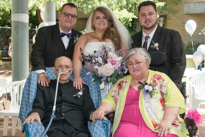 A dying wish for a daughter's wedding