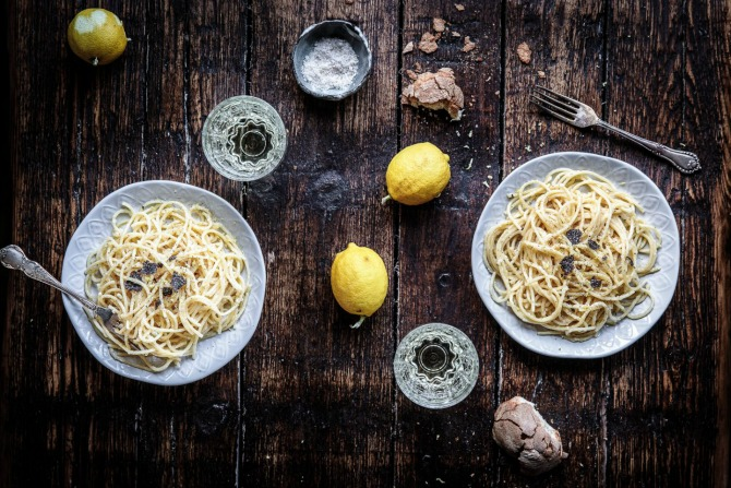 Recipe: Spaghetti with Black Truffle, Parmigiano and Lemon