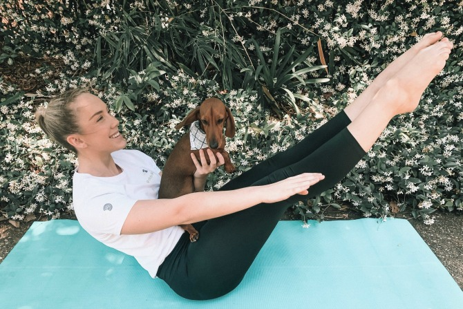 Did someone say a free Pilates class…with dogs?