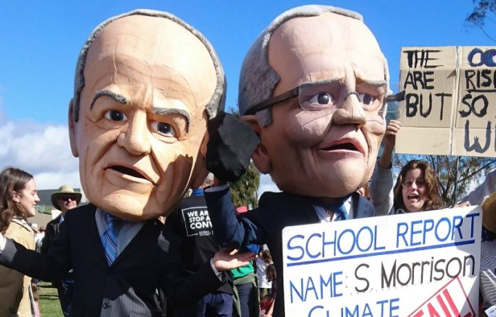 Meet the Canberra man behind those oversized political puppets
