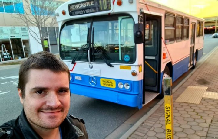 There are some 450 buses in Canberra and Kyle is familiar with most of them