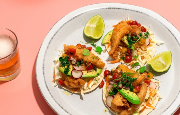 Recipe: Crispy Fish Tacos, Chimichurri, Smoked Tabasco Aioli