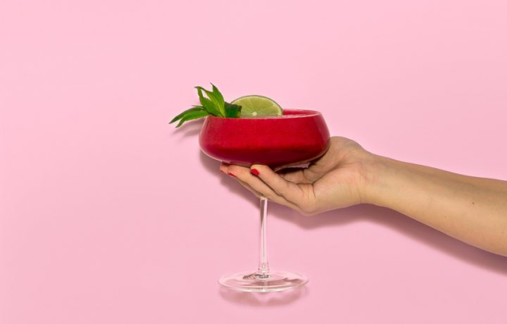 Recipe: Frozen Raspberry & Mint Mocktail Slushie
