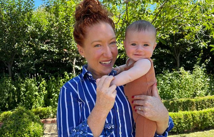 New mum Kristen Davidson hits the ground (and airwaves) running
