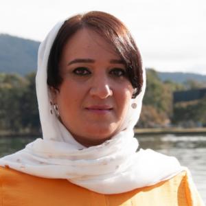 Afghan refugee and visual artist Hangama Obaidullah: